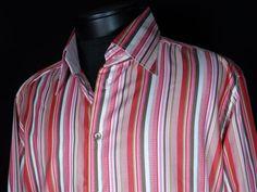 Eton of Sweden sz 44 - 17.5 Button Front Shirt Contrasting Flip Cuffs Near Mint #Shopping #Style #Clothing @eBay! http://r.ebay.com/TaB28F