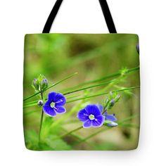 Summer feeling by svetlanistaya. Beautiful violet flower on blurred background. #Svetlanistaya #Flowers #ToteBag #HomeDecor