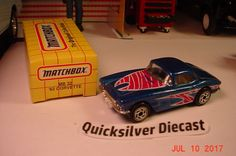Matchbox 62 Corvette Blue 1993 32 Box