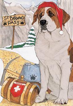 Saint Bernard Christmas Cards