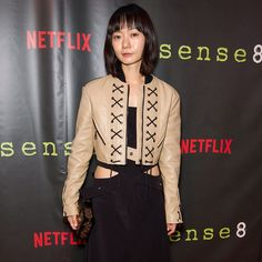 Doona Bae wearing #LouisVuitton #LVCruise by @nicolasghesquiereofficial to the premiere of 'Sense8' in San Francisco