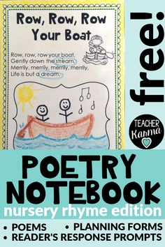 Poetry notebooks - FREE Poetry Notebook Will Change Your Teaching Life – Poetry notebooks Teaching Phonics, Free Teaching Resources, Teaching Writing, Teacher Resources, Kindergarten Phonics, Kindergarten Reading, Teaching Ideas, Creative Teaching, Preschool