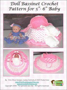 Erin Olivia Designs Doll Bassinet Crochet Pattern