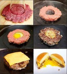 Burger egg
