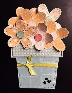 Donna's Flower Pot inspired by Kaye at Lasting Impressions!
