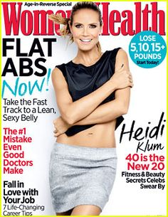 Heidi Klum – Women's Health Magazine Cover [United States] (March - Women Health Tips Heidi Klum, Womens Health Magazine, Best Track, Mein Style, Toned Abs, Good Doctor, Healthy People 2020, Health Diet, Health Fitness