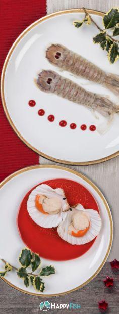 Raffinato e gustoso antipasto misto a base di #cannocchie e #capesante. Scopri tante altre idee appetitose sul nostro volantino #Speciale #Natale--> http://happyfish.it/promozioni/#volantino