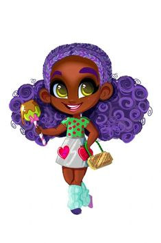Beautiful Black Girl, Black Girl Art, Beautiful Dolls, Art Girl, Twin Girls Outfits, Purple Streaks, Heart Graphics, Black Little Girls, Doll Drawing