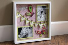 DIY Shadowbox:Pink Butterflies