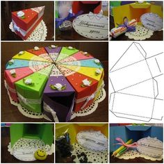 DIY Cake Shaped Gift Boxes Archives - i Creative Ideas Diy Gift Box, Diy Box, Gift Boxes, Cake Boxes, Christmas Gift Wrapping, Christmas Gifts, Bolo Diy, Gift Wrapping Tutorial, Wrapping Ideas