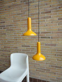 1960s Fog Morup hanging lamps.