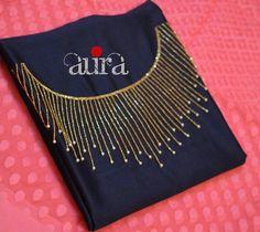 Best 12 Whatsapp on 9496803123 to customise – SkillOfKing. Embroidery On Kurtis, Hand Embroidery Dress, Kurti Embroidery Design, Embroidery Neck Designs, Bead Embroidery Patterns, Embroidery Works, Beaded Embroidery, Zardosi Embroidery, Salwar Neck Designs