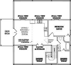 Barn Loft Apartment Plans | Loft Barn Building Plans http://pennypincherbarns.com/OutlawKits ...