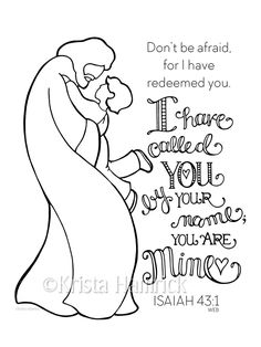 I Have Called You By Name-- Boy  coloring page  8.5X11  Bible journaling tip-in  6X8 by KristaHamrick on Etsy https://www.etsy.com/listing/279120544/i-have-called-you-by-name-boy-coloring
