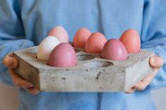 DIY concrete hexagon egg tray   Kittenhood