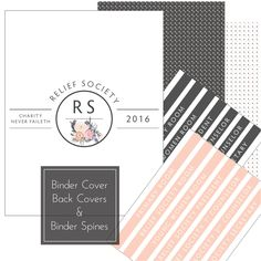 Society Presidency Kit: Binder Covers. Relief Society Printables. LDS ...