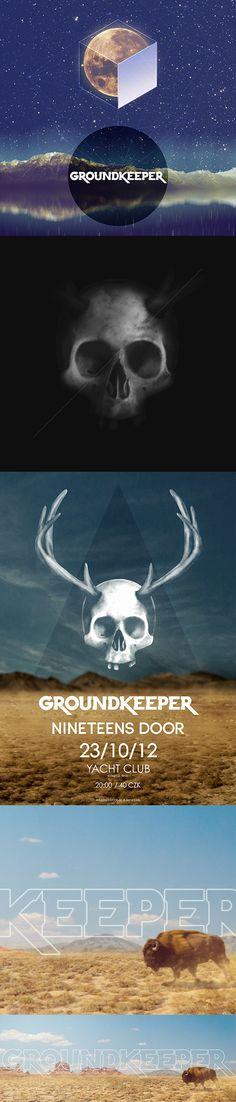 GROUNDKEEPER ● logo design ● visual identity for a hard rock band ● Keywords: southern rock, hard rock, stoner rock, desert