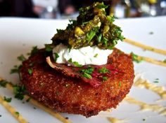 Fried green tomatoes at Magnolias at the Mill in Purcellville. Image from http://www.petergreenberg.com