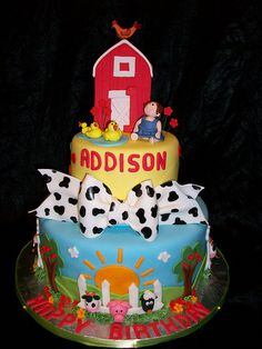 Themed Birthday Cakes Farm Cake Pictures