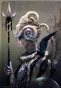 The Art Of PO-WEN-17 Picture  (2d, fantasy, warrior, girl, woman)
