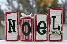 decorative blocks of wood : )