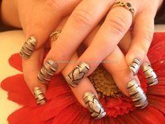 Acrylic nails with nail art