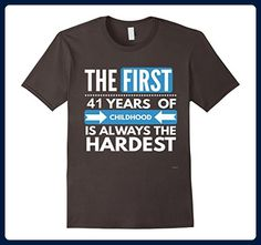 Mens 41st Birthday Shirt Funny 41 Year Old Birthday Gift Small Asphalt - Birthday shirts (*Amazon Partner-Link)