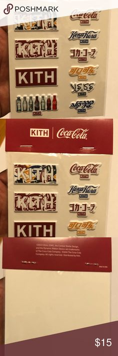 4e55f0452566d KITH COCA-COLA STICKER PACK OS SOLD OUT ON KITH.COM! NEW WITH TAGS KITH  Accessories
