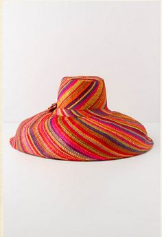Protects your skin and calls attention. I love a big, colorful hat! Anthropologie, $58