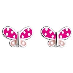 A cute pair of pink butterfly stud earrings from Kit Heath for Kids. Butterfly Earrings, Pink Butterfly, Sterling Silver Earrings Studs, Stud Earrings, Childrens Christmas Gifts, Kids Jewelry, Luxury Jewelry, Color Splash, Pretty In Pink