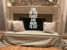 A DIY on how to make your own bench cover for your fireplace! Functional, safe, and stylish! Stone or Brick fireplace hearth cover. Wooden Fireplace, Fireplace Cover, Fireplace Hearth, Fireplaces, Making A Bench, Bench Covers, Uni Room, Diy Bench, Extra Seating
