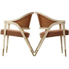 "Selected by Thomas Pheasant: ""A-Frame"" Chairs By Edward Wormley 