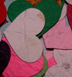 Custom Wedding Favor Rainbow Heart Shaped Plantable Confetti Pieces by Davita, $9.00 www.davita.etsy.com