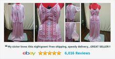 Vintage Dusty Rose Nightgown & Jacket Set Nylon Gilead Size Medium Lots of Lace | eBay #gilead