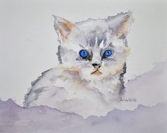 I'm So Cute  Watercolor painting by Lynda Nolte