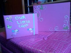 Designed photo albums for a baby shower.