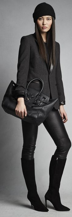 This fall Ralph Lauren Women's Black Label, is about a monochrome palette brought to life with a sleek, modern silhouette
