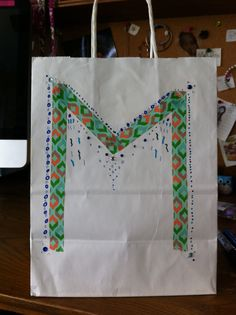 Cute DIY M gift bag