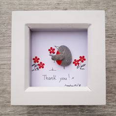 Mother's Day Pebble Picture, Mother's Day Gift, Mother's Day Present, Framed Mum's present, Gift for Mum, Robins Pebble, kieselsteinbilder, Anselmo Pebble Art