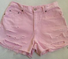 High Waisted Pastel Pink Shorts by VintageAndUrbanSouls on Etsy, $28.00