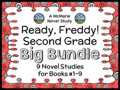 Ready, Freddy! Second Grade BIG BUNDLE (Abby Klein) 9 Novel Studies : Books #1-9 * Follows the Common Core Standards *  This Ready, Freddy! Second Grade BIG BUNDLE contains 9 Novel Studies from the Ready, Freddy! Second Grade series by Abby Klein. In total, there are 223 pages. Each Novel Study is in booklet-style format.