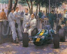 ... автомобили, Alan Fearnley, тайм-аут 1280x1024