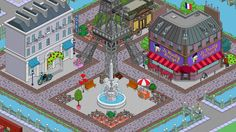 torre eiffel - hotel parigino - le krusty burger - boulangerie patisserie