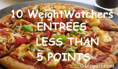 If you count Weight Watchers points you can't afford to miss out on these entrees that are 5 points or less!! Zucchini  & Bell Pepper Pizza anyone?