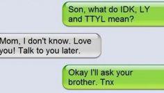 WTH Mom. WTH.