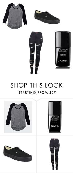 """""""First Day of School"""" by donna-bender ❤ liked on Polyvore featuring Wilfred, Chanel, Vans and 2LUV"""