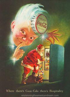 xmas coke ad Santa Sprite 1948