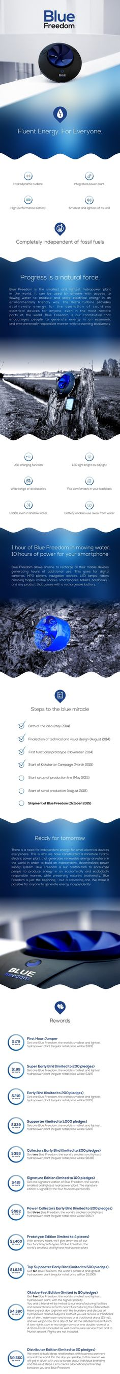 Blue Freedom | The World's Smallest Hydropower Plant by Blue Freedom LLC — Kickstarter