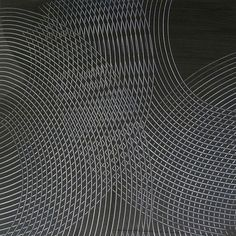 Image 5 of 6 James Boatman Black on Silver 2011 60x60 cm