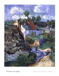 Houses+at+Auvers,+c.1890